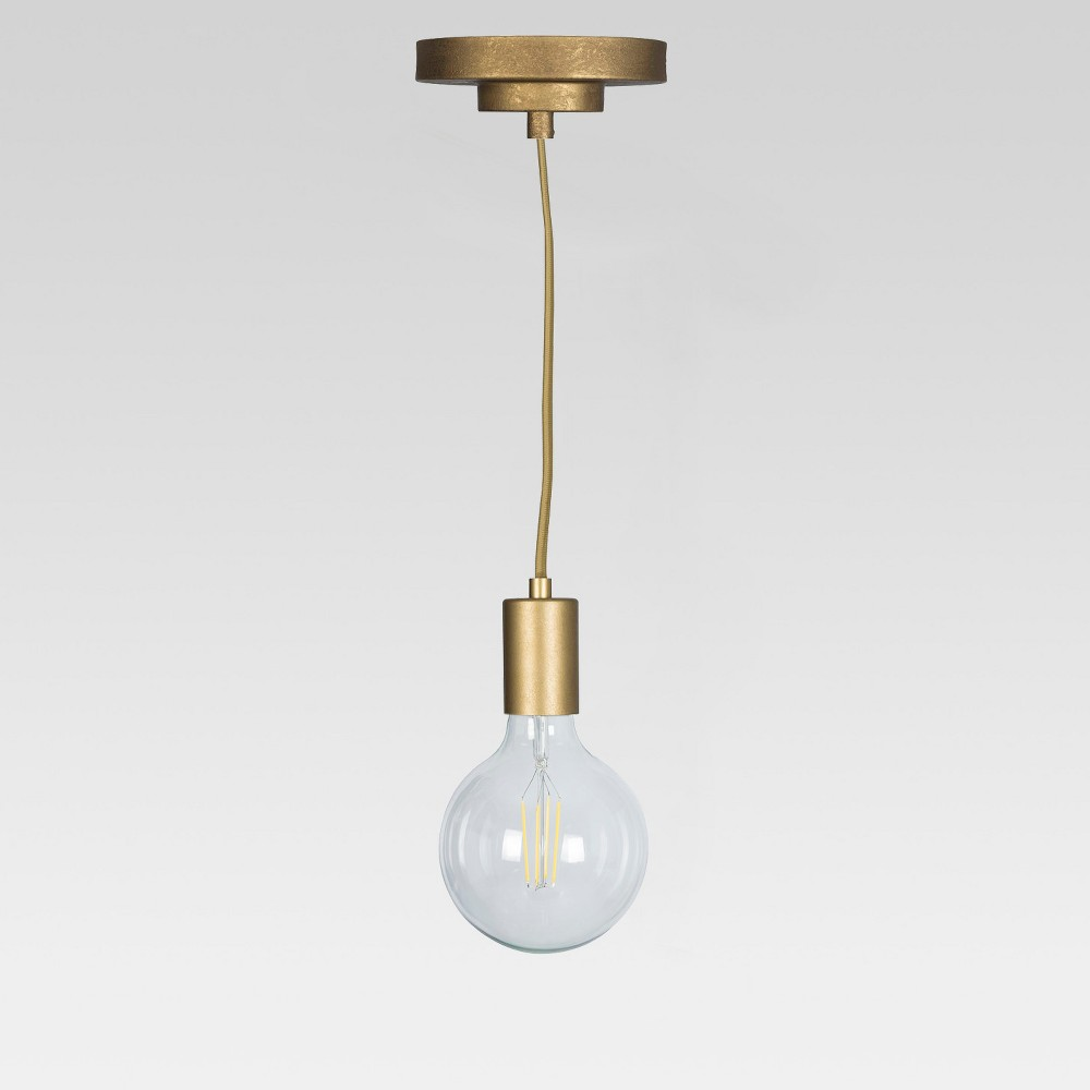 Industrial Metal Pendant Lamp Gold (Includes Energy Efficient Light Bulb) - Project 62 + Leanne Ford