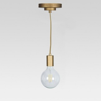 Industrial Metal Pendant Lamp Gold (Includes Energy Efficient Light Bulb) - Project 62™ + Leanne Ford