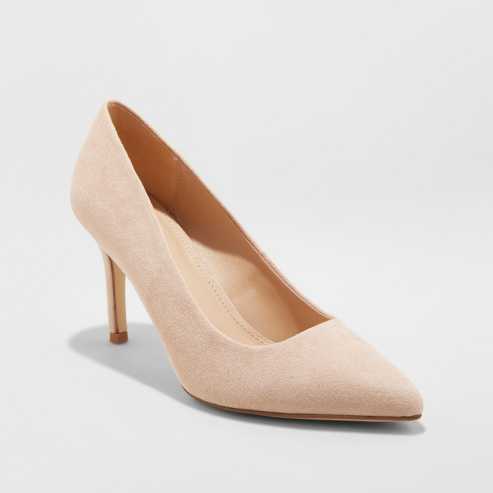 Women's Gemma Wide Width Pointed Toe Heel Pumps - A New Day Blush 9.5W was $29.99 now $17.99 (40.0% off)