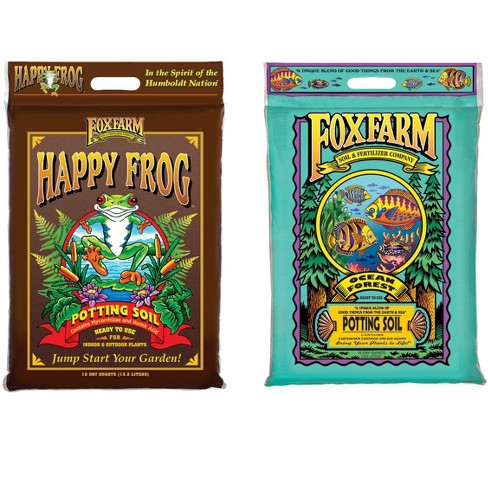 FoxFarm FX14053+FX14054 Ocean Forest w/Happy Frog Garden Potting Soils, 12 Quart - image 1 of 3