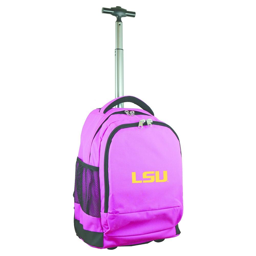 NCAA Lsu Tigers Pink Premium Wheeled Backpack, Purple/Gold