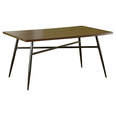 Milo Mixed Media Dining Table Black/Wood - Buylateral