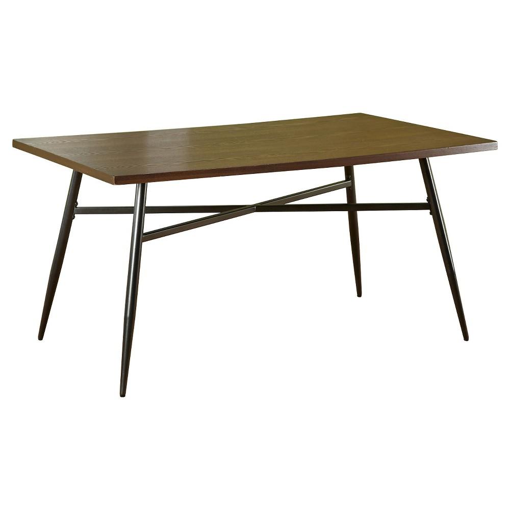 Milo Mixed Media Dining Table Black Wood Buylateral