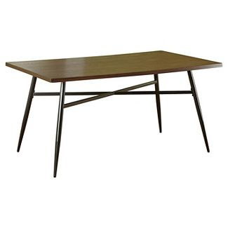 Milo Mixed Media Dining Table Black/Wood - TMS