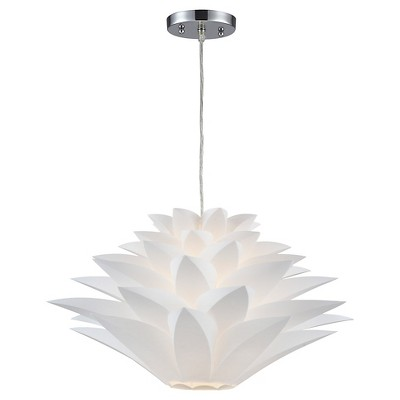 Lazy Susan 1 Light Pendant Lamp - White