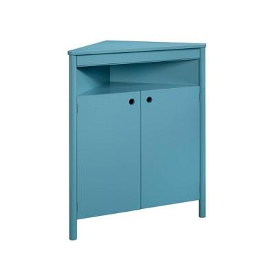 Anda Noor Corner Storage Cabinet Sea Blue - Sauder