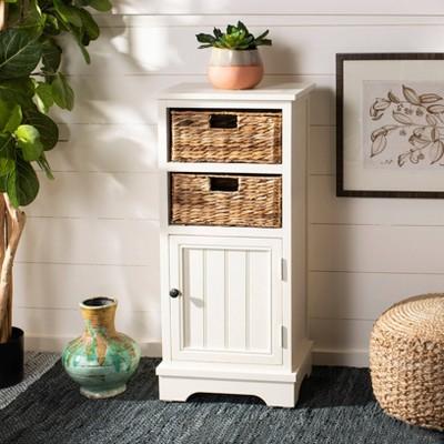 Decorative Storage Cabinets WHT - Safavieh : Target