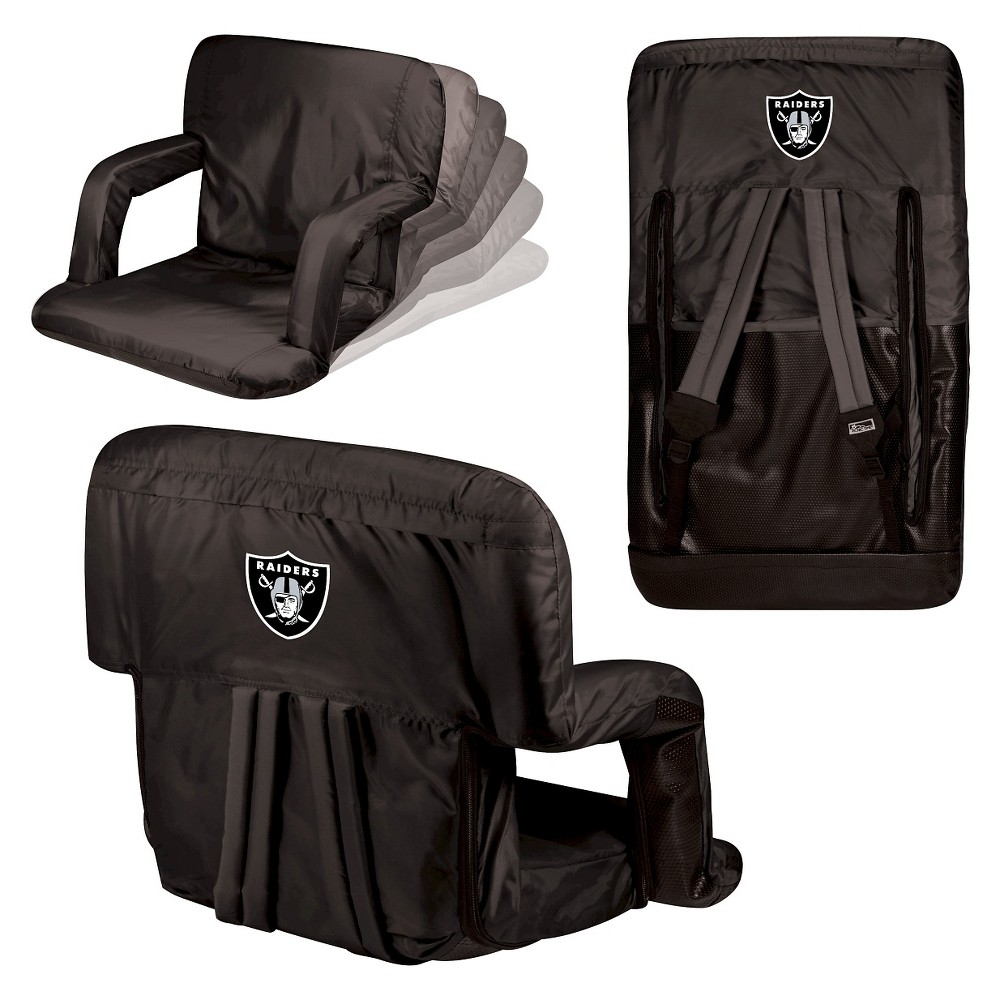 Oakland Raiders Ventura Seat Portable Recliner Chair by Picnic Time
