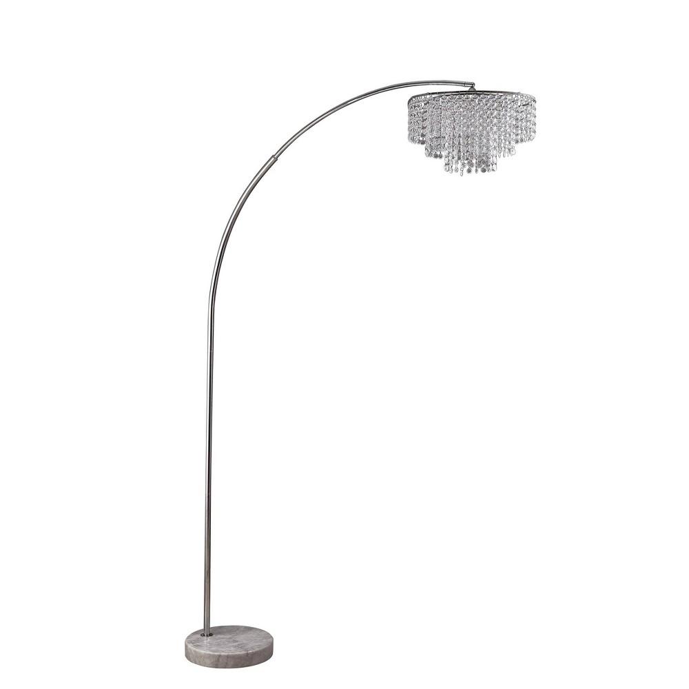 Clos Glam Arch Floor Lamp Silver (Includes Energy Efficient Light Bulb) - Ore International