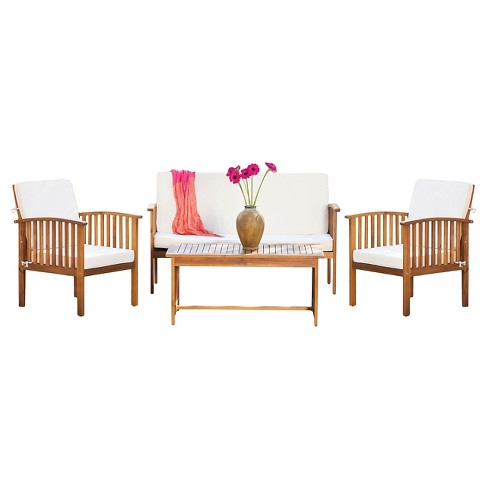 Carolina 4pc Acacia Chat Set Christopher Knight Home Target