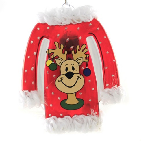 """Holiday Ornament 5.0"""" Ugly Sweater Reindeer Houses Bells  -  Tree Ornaments - image 1 of 3"""