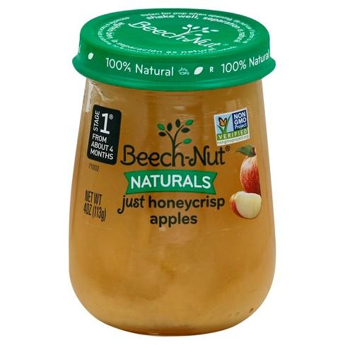 Beech Nut Naturals Pureed Baby Food Apple 4oz Target