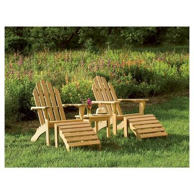 Oxford Garden Adirondack Chair   Natural Shorea : Target