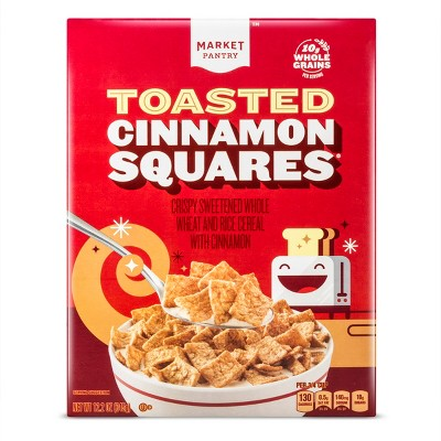 Toasted Cinnamon Squares Breakfast Cereal - 12.2oz - Market Pantry™