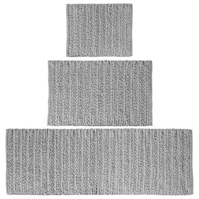 mDesign Soft Cotton Spa Mat Rug for Bathroom, Varied Sizes, Set of 3