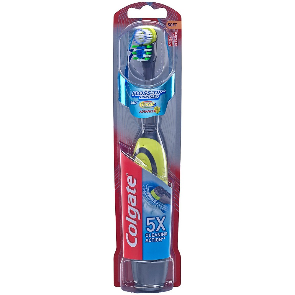 Image of Colgate 360 Total Advanced Floss-Tip Battery Powered Toothbrush Soft - 1ct