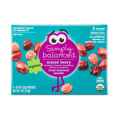 Mixed Berry Fruit Flavored Snacks - 5ct - Simply Balanced™ - image 1 of 2