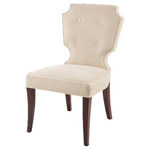 Mila Dining Chair Wood/Cream (Set of 2) - image 1 of 3