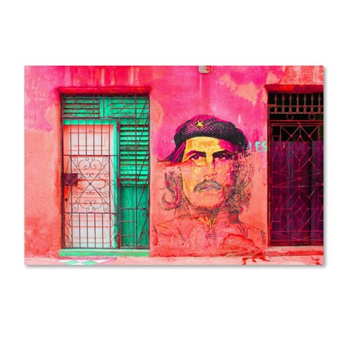 "Trademark Fine Art 24"" x 16"" Masters Fine Art 'Che On The Wall Havana' Canvas Art - image 1 of 3"