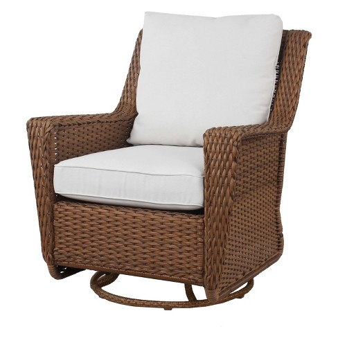 Patio Wicker Motion Chair With Cushion Gray Threshold