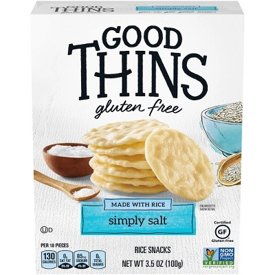 Good Thins Simply Salt Rice Snacks Gluten Free Crackers - 3.5oz