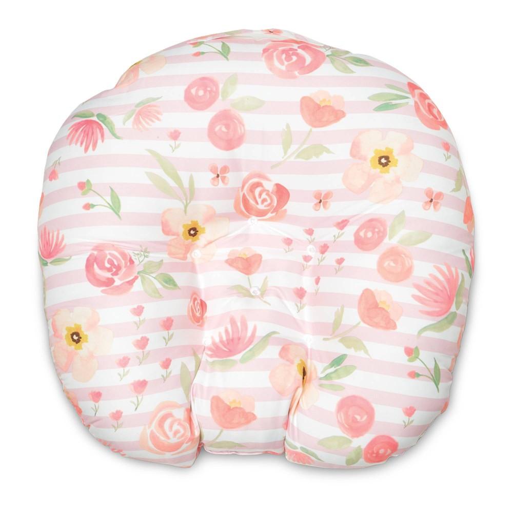 Image of Boppy Newborn Big Blooms Lounger - Pink, White Pink