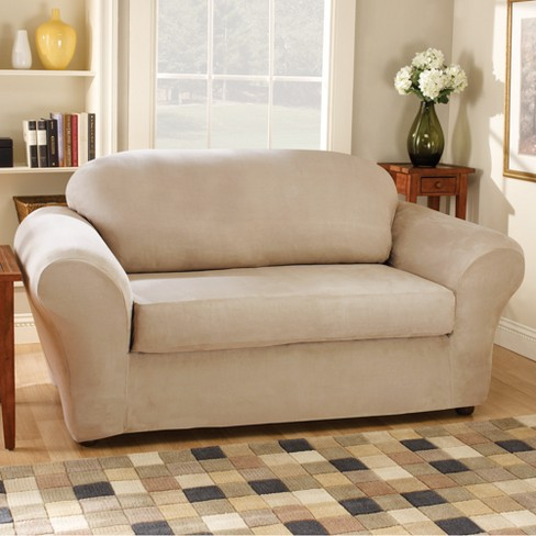Stretch Suede 2pc Sofa Slipcover Sure Fit Target
