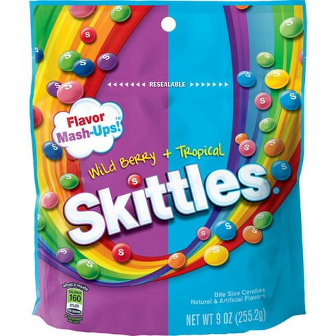 Skittles Flavor Mash-Ups Wild Berry and Tropical Bite Size Candies - 9oz - image 1 of 3