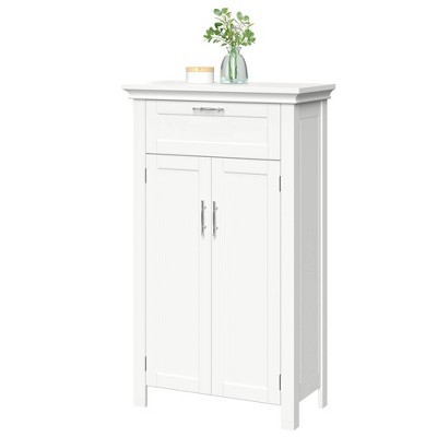 Somerset Free Standing Cabinet with Two Doors and Drawer White - RiverRidge Home