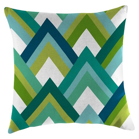 Outdoor Throw Pillow Set Jordan Manufacturing Multi-colored Green Blue White - image 1 of 1