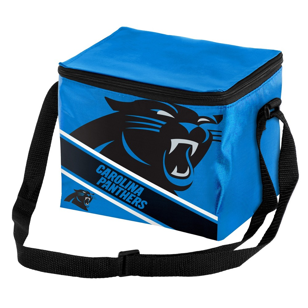 NFL Big Logo Stripe 6 Pack Cooler-Carolina Panthers, Carolina Panthers