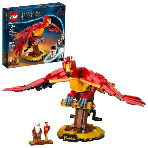 LEGO Harry Potter Fawkes, Dumbledore's Phoenix 76394 597pc Building Kit - image 1 of 4