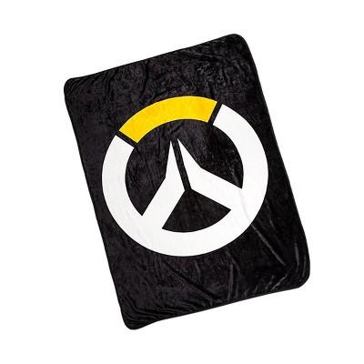 Surreal Entertainment Overwatch Logo Lightweight Fleece Throw Blanket | 45 x 60 Inches