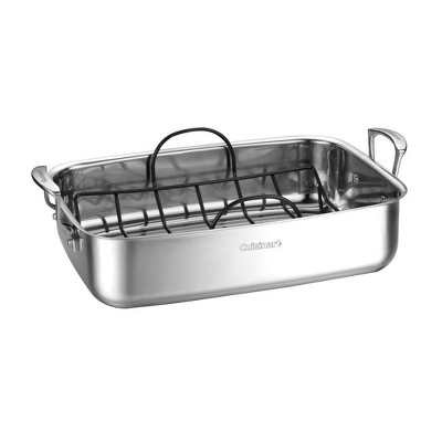 "Cuisinart 15"" Stainless Steel Roaster with Non-Stick Rack - 83117-15NSR"