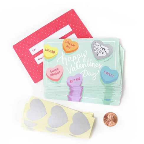 Scratch Off Sweetheart Valentines Day Cards - image 1 of 4