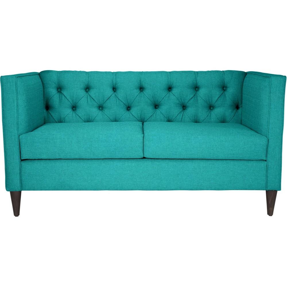 61 Modern Loveseat Teal (Blue) - ZM Home
