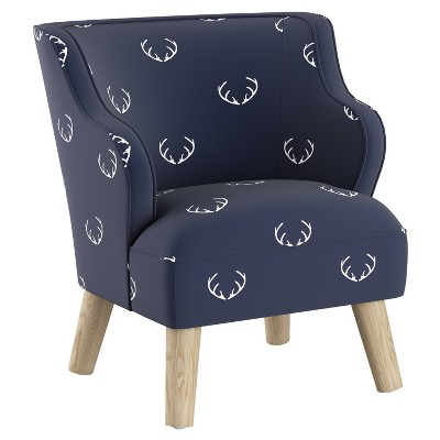 Kids' Modern Chair Antler Navy - Skyline Furniture