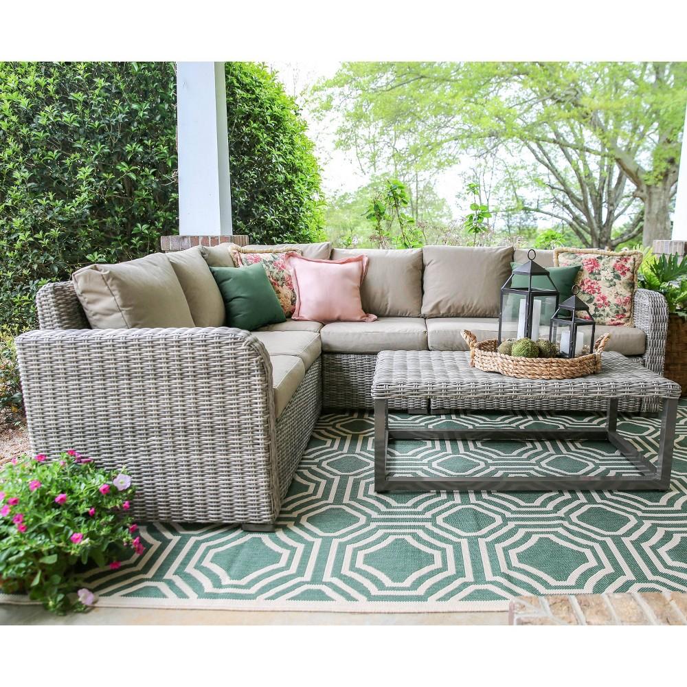 Forsyth 5pc Patio Seating Set with Sunbrella Fabric - Tan - Leisure Made