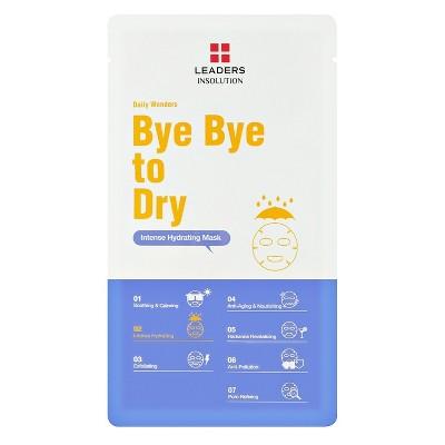 Leaders Bye Bye to Dry Face Mask Sheet - 0.84 fl oz