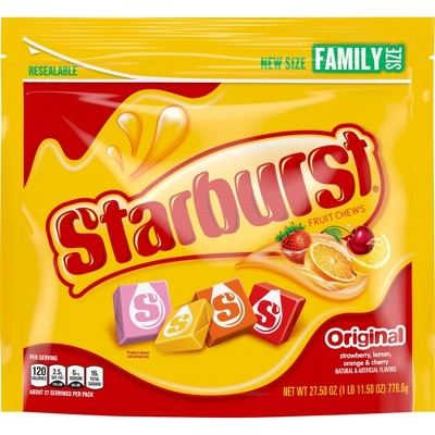 Starburst Original Family Size Chewy Candy - 27.5oz