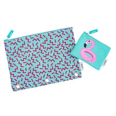 2ct Squiggle Pool Party Flamingo Pencil Case - Yoobi™