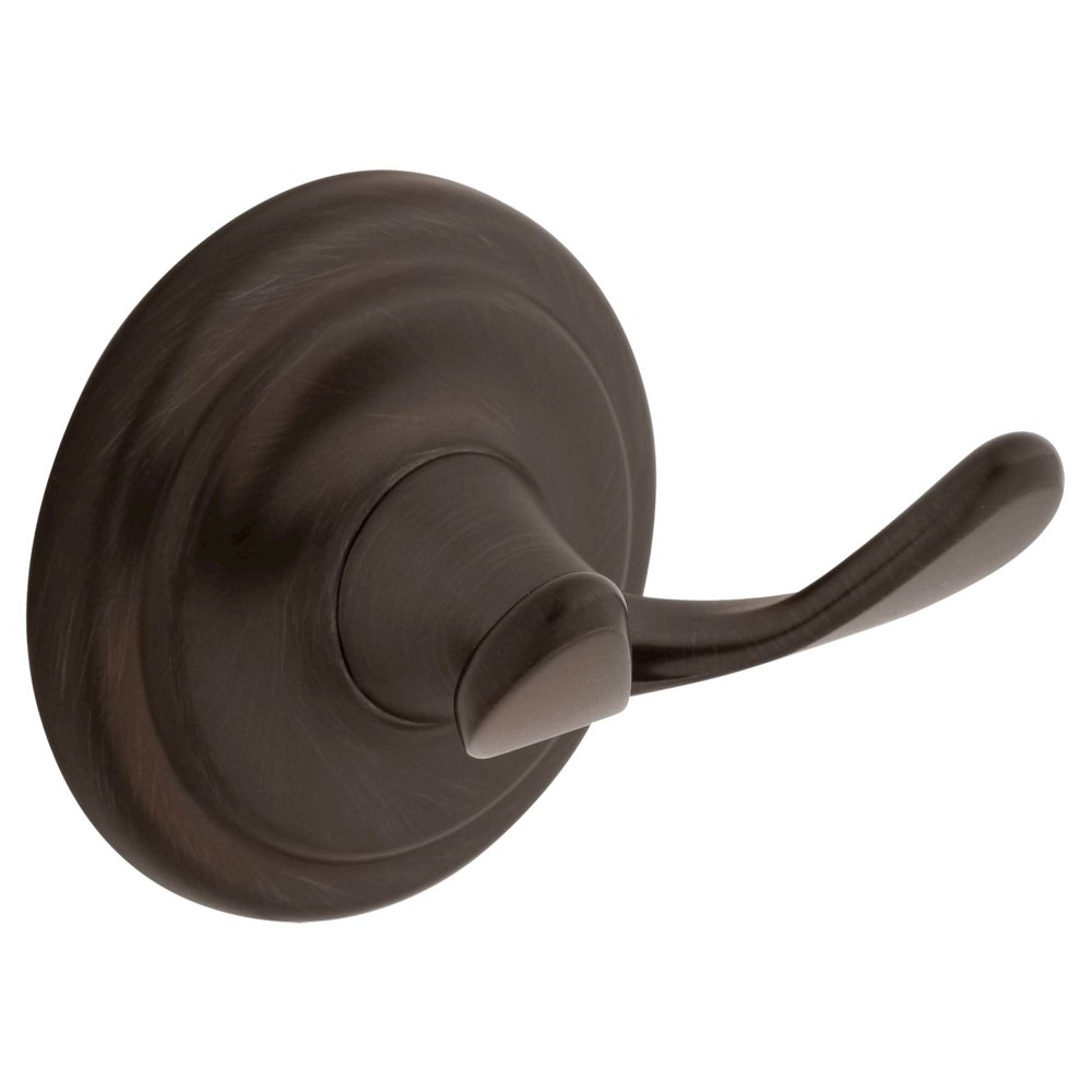 Franklin Brass Jamestown Double Robe Hook - Venetian Bronze