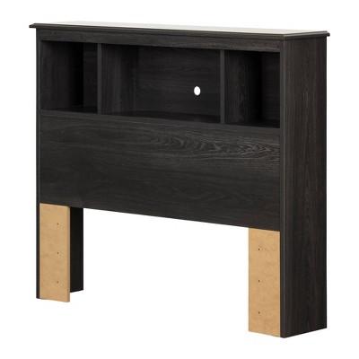 Twin Zach Bookcase Headboard  Gray Oak  - South Shore
