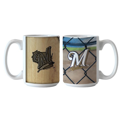 MLB Brewers Ballpark Coffee Mug - Set of 2 - 15oz. - image 1 of 1