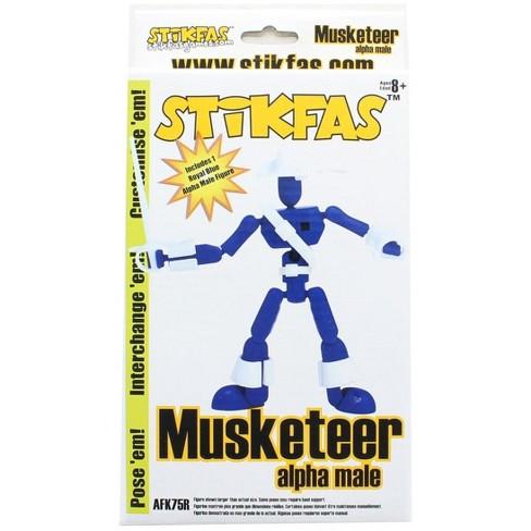 "Saizon Stikfas 3"" Mini Figure: Alpha Male Musketeer - image 1 of 2"