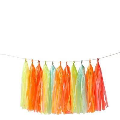 Meri Meri – Neon Tassel Banner – Party Decorations and Accessories - 10.5'