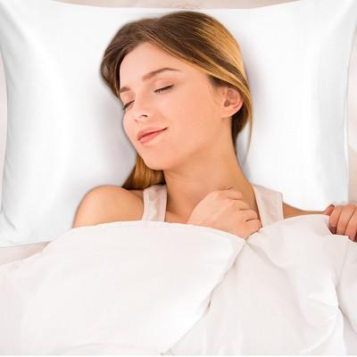 1 Pc Silk with Envelope Closure Pillow Case Snow White - PiccoCasa
