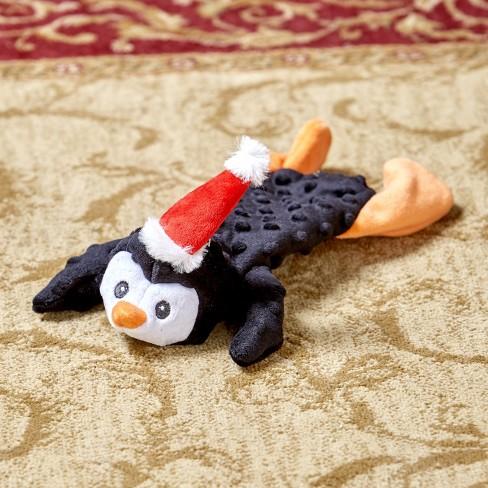 Lakeside Skinneeez Extreme Unstuffed Dog Toy - Christmas Penguin - image 1 of 1