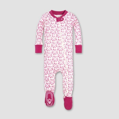 Burt's Bees Baby® Baby Girls' Stitched with Love Sleeper - Azalea 3-6M