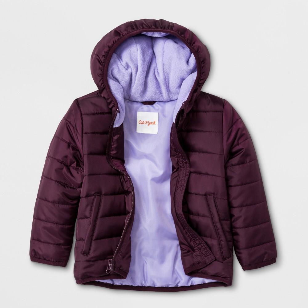 Toddler Girls' Hooded Fashion Jacket - Cat & Jack Purple 3T